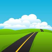 Vector de carretera — Vector de stock