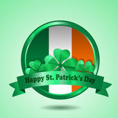 St. Patrick Badge Vector — Stock Vector
