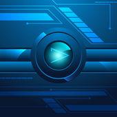 Hi Tech Button Background — Stock Vector