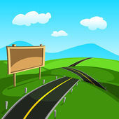 Road Vector — Stock Vector