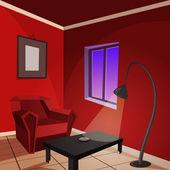 Kırmızı oda — Stok Vektör