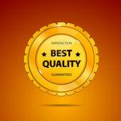 Best Quality Badge — Stock Vector