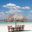 Beach chairs under the shade — Stock Photo #37239325