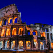 Colosseum at night — 图库照片