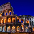 Colosseum at night — Stock fotografie