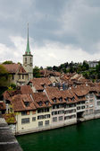 Bern in Switzerland and river Aare — Stock Photo