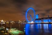 Londyńskiego oka w nocy — Zdjęcie stockowe