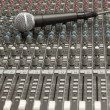 Studio Mixer and Microphone — Stock Photo