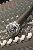 Microphone close-up — Foto Stock