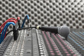 Microphone close-up — Stockfoto