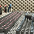 Studio Mixer and Microphone — Foto de Stock