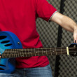 Stock Photo: Tuning guitar