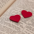Hearts on a book page — Stock Photo #39326117