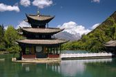 LiJiang, China: Black Dragon Pool Pagoda — Stock Photo