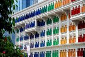 Singapore: Multi-coloured Shutters in Chinatown — Stock Photo