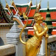 Bangkok, Thailand: Gilded Aponsi at Wat Phra Kaeo- The Royal Palace — Stock Photo