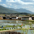 Guan Yin Xia, China: Yunnan Province Waterside Naxi Village — Stock Photo #34916047