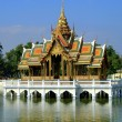 Stock Photo: Ayutthaya, Thailand: Golden Pavilion at Bang Pa-In Summer Royal Palace