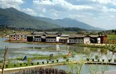 Guan Yin Xia, China: Yunnan Province Waterside Naxi Village — Stock Photo