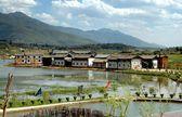Guan Yin Xia, China: Yunnan Province Waterside Naxi Village — Stock Photo