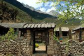Ju Zhu Qing Tian Stone Village Entry Gate in Yunnan Province, Chin — Stock Photo