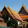 Bangkok, Thailand: Temple Pavilions at Wat Pho — Stock Photo