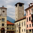 Belluno, Italy: Piazza dell Duomo — Stock Photo