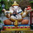 Bang Saen, Thailand: Elephant God Ganesha at Kuan-Yin Chinese Temple — Stock Photo #34974535