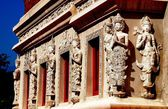 Chiang Mai, Thailand: Library Hall Statues at Wat Phra Singh — Stock Photo