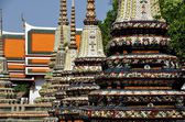 Bangkok,Thailand: Wat Pho Chedis — Stock Photo