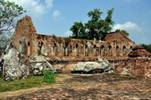 Ayutthaya, Thailand: Ruins of Wat Gudidao — Stockfoto