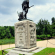 Concord, Massachusetts: Minuteman Statue at North Bridge — Stock Photo