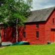 Stock Photo: Harrisville, NH: Old Red Boathouse