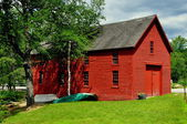 Harrisville, NH: Old Red Boathouse — Stock Photo