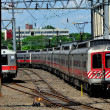 New Haven, CT: Metro-North Commuter Trains — Stok fotoğraf