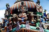 Singapore: Sri Mariamman Hindu Temple — Stock Photo