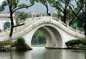 Guilin, China: Marble Bridge over Lake — Stock Photo