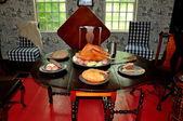 Sudbury, MA: 1716 Wayside Inn Dining Room — Stock Photo