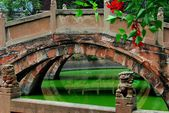 Deyang, China: pan Brücken im konfuzianischen Tempel — Stockfoto