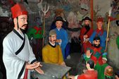 China: Painted Statues at Dong Yuan Si Buddhist Temple in Pengzhou — Stock Photo
