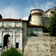 Stock Photo: Brescia, Italy: 1343 Visconti Castle