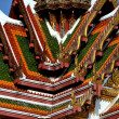 Stock Photo: Bangkok, Thailand: Gabled Roofs at Wat Yanawa