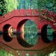 Постер, плакат: China: Bridge in Wang Cong Ci Park in Pixian