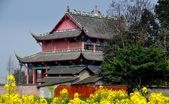Pengzhou, China: Dong Yuan Si Temple in Pengzhou — Stock Photo