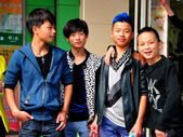 China: Four Teenaged Boys — Stock Photo
