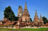 Ayutthaya,Thailand: Wat Chai Watthanaram Ruins — Stock Photo