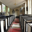 Philadelphia, PA: Interior with Pews at 1727-54 Christ Church — Stock Photo