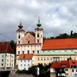 Stock Photo: Steyr, Austria: Jesuit and Spitlskirche Churches