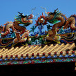 Stock Photo: Chiang Mai, Thailand: Double Roof Dragons at Pung Tao Gong Ancestral Temple