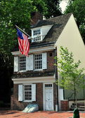 Philadelphia, PA: 1740 Betsy Ross House — Stock Photo